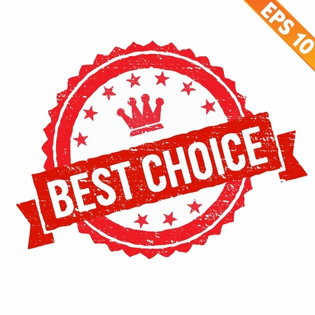 Grunge best choice guarantee rubber stamp  - Vector illustration Stock Vector - 21018842