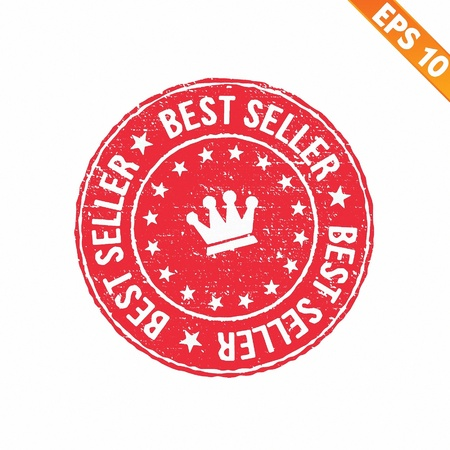 Grunge best seller guarantee rubber stamp  - Vector illustration  Vector