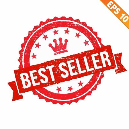 best seller: Grunge Bestseller Garantie Stempel - Vektor-Illustration