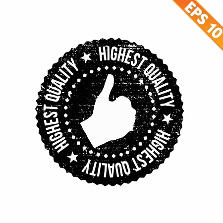 Grunge highest quality guarantee rubber stamp  - Vector illustration  Illustration