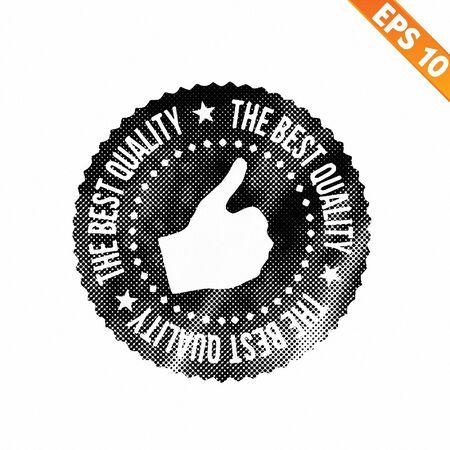 highest: Grunge highest quality guarantee rubber stamp  - Vector illustration Illustration