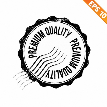 Grunge highest quality guarantee rubber stamp  - Vector illustration Illustration