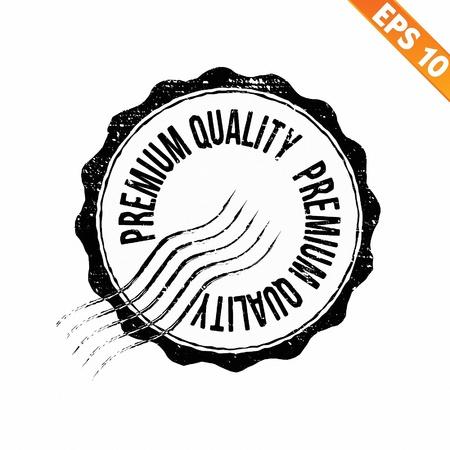 Grunge più alta garanzia di qualità timbro di gomma - illustrazione vettoriale Archivio Fotografico - 21018950