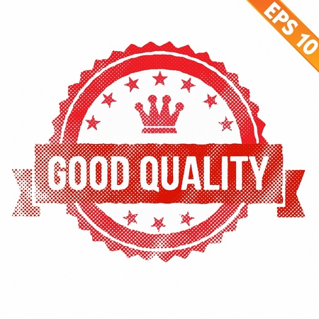 Stamp sticker Quality tag collection  - Vector illustration Stock Vector - 21018953