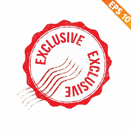 exclusive icon: Grunge exclusive rubber stamp  - Vector illustration  Illustration