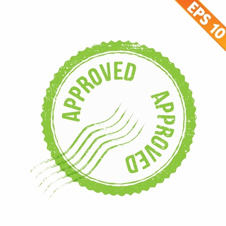 tried:  Rubber stamp approved - Vector illustration - EPS10  Illustration