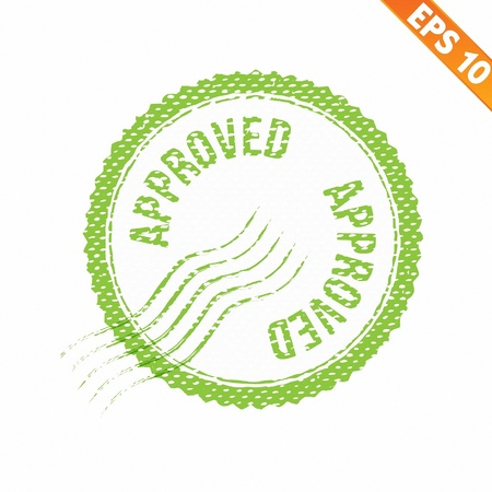 Rubber stamp approved - Vector illustration - EPS10 Stock Vector - 21311430