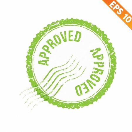proved: Timbro di gomma approvato - Illustrazione vettoriale - EPS10