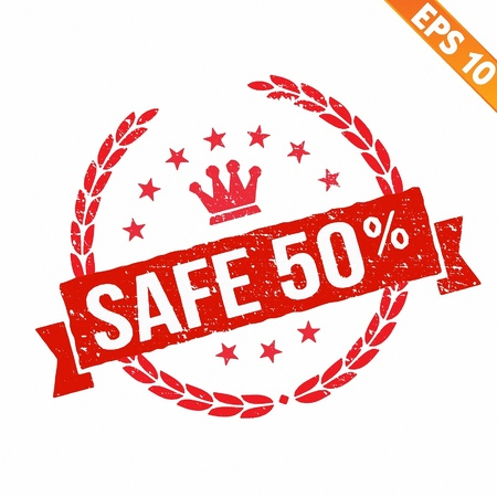 sell off:  Rubber stamp sale tag - Vector illustration - EPS10