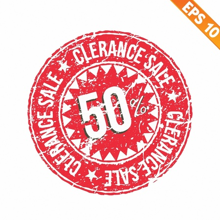 sell out:  Rubber stamp sale tag - Vector illustration - EPS10 Illustration