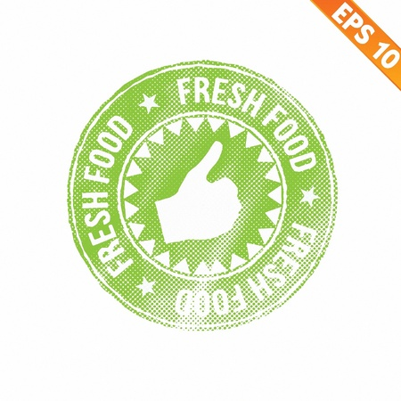 Rubber stamp food - Vector illustration - EPS10  Vector