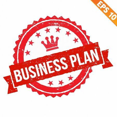 impress: Timbro di gomma business plan - Vector illustration - EPS10