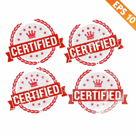 Rubber stamp certified - Vector illustration - EPS10 Stock Vector - 21313827