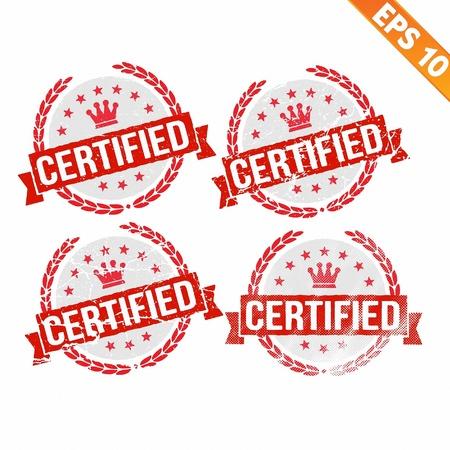 endorsed:  Rubber stamp certified - Vector illustration - EPS10