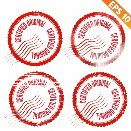 Rubber stamp certified - Vector illustration - EPS10  Vector