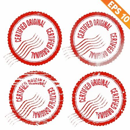 ratify:  Rubber stamp certified - Vector illustration - EPS10