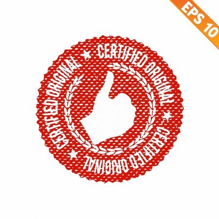 approbation: Timbro di gomma certificata - Vector illustration - EPS10