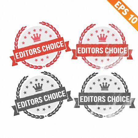 editor:  Rubber stamp editor choice - Vector illustration - EPS10