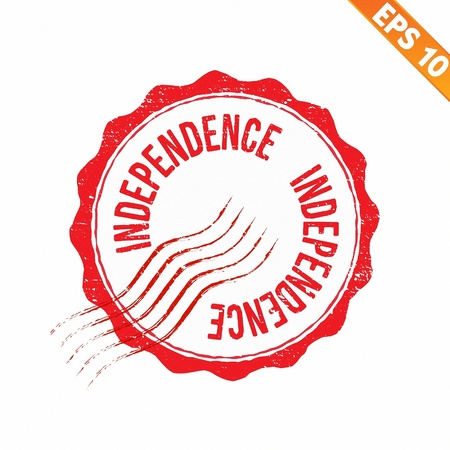 Rubber stamp independence - Vector illustration - EPS10  Vector