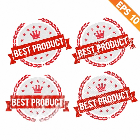 Rubber stamp best product - Vector illustration - EPS10  Vector