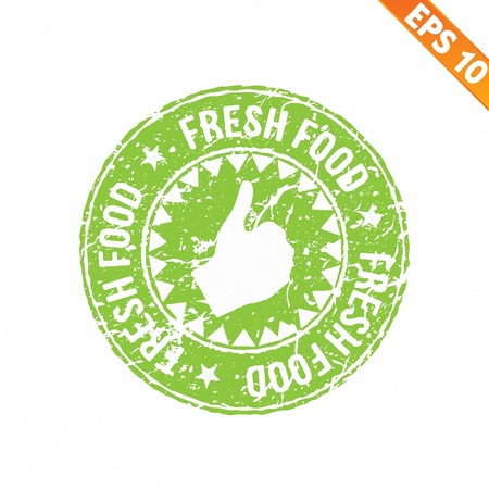 Rubber stamp food - Vector illustration Vector