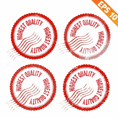 highest:  Rubber stamp highest quality - Vector illustration