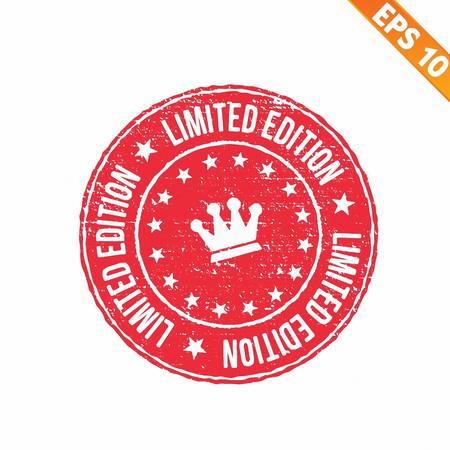 Grunge limited edition rubber stamp  - Vector illustration Vector