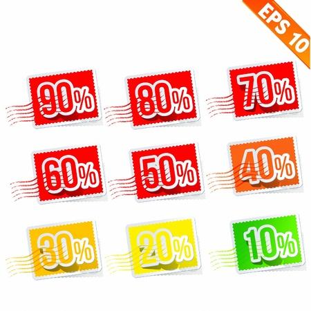 Stamp Sale discount -  Vector illustration Illustration