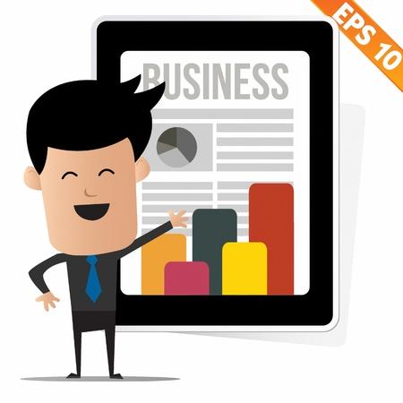 business news: Business News on tablet - Vector illustration