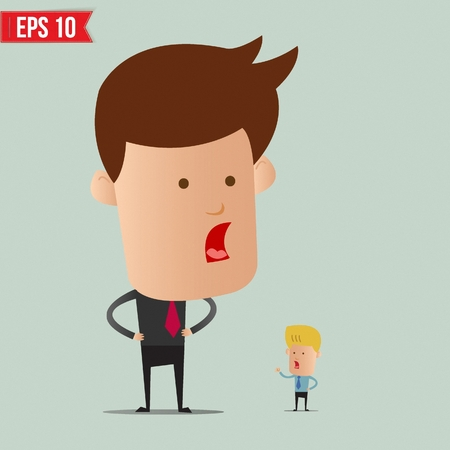 business man vector: Business man and arguement - Vector illustration