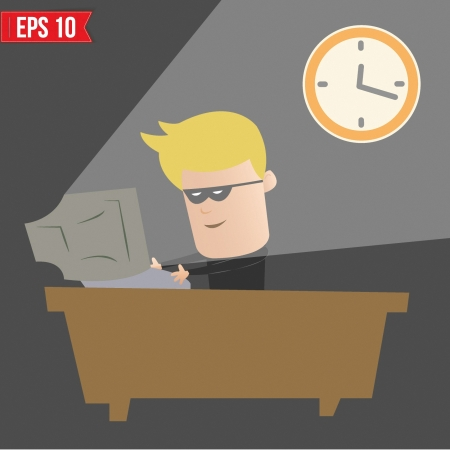Hacker hacking on computer - Vector illustration Vector
