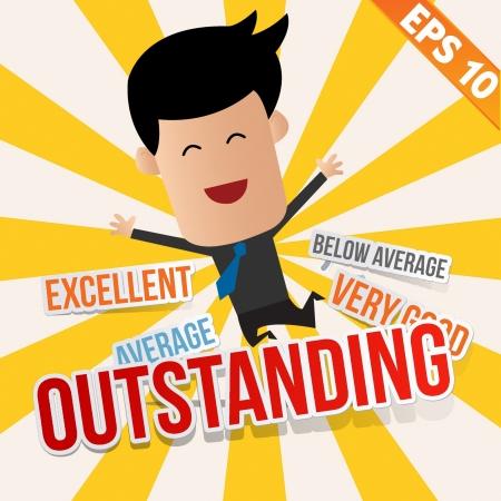 L'uomo d'affari con un punteggio di valutazione - Vector illustration Archivio Fotografico - 22545691