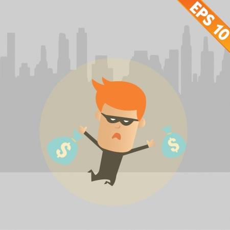 Thief steal money - Vector illustration Vector