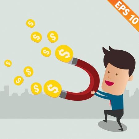 atraer: Uso Thief copia im�n atraer el dinero - ilustraci�n vectorial