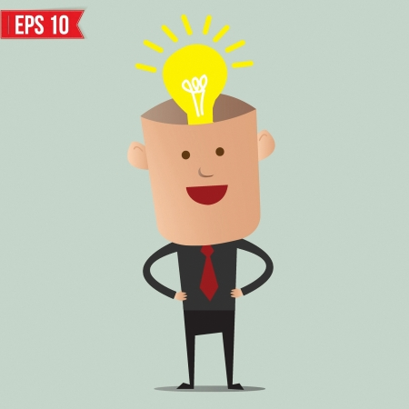 Business man thinking  - Vector illustration - EPS10 Vector