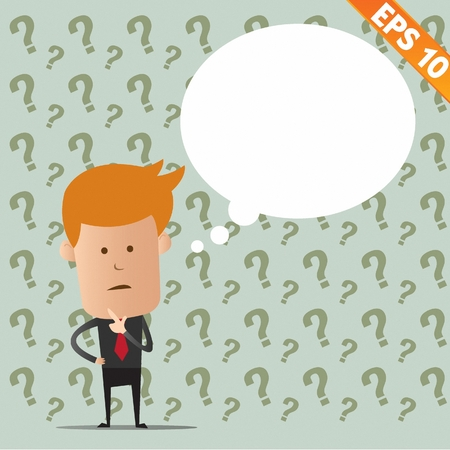 Business man thinking - Vector illustration  Stock Vector - 22541608