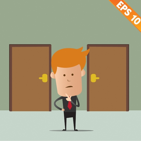 Business man thinking - Vector illustration  Stock Vector - 22549268