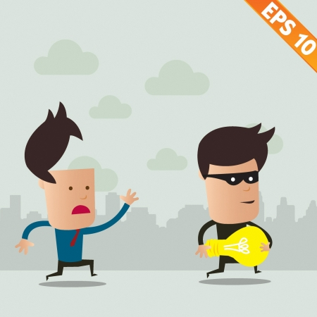 steal: Thief steal idea - Vector illustration