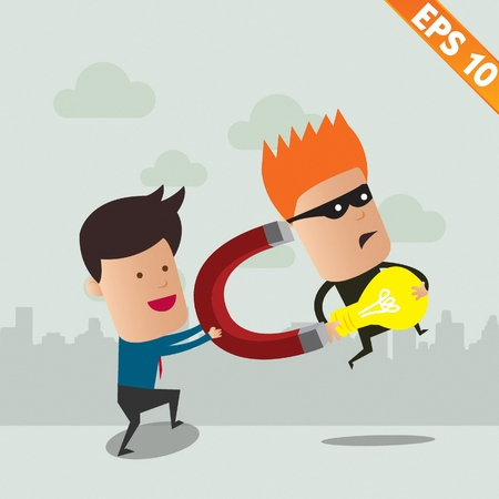 Thief steal idea - Vector illustration Vector