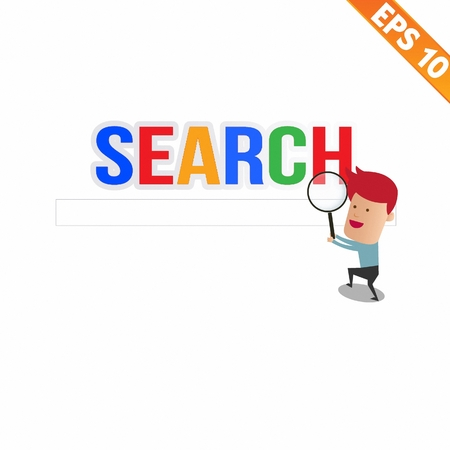 screenshot: Magnifier Enlarges for search concept - Vector illustration