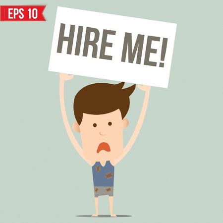 unemployment: Hombre de negocios de desempleo - ilustraci�n vectorial Vectores