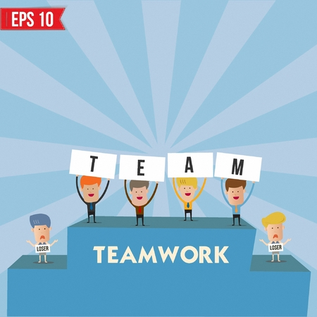 Businessmen with teamwork spirit  - Vector illustration Vector