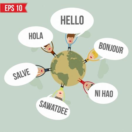Ciao in diverse lingue del mondo - illustrazione vettoriale Archivio Fotografico - 23351845