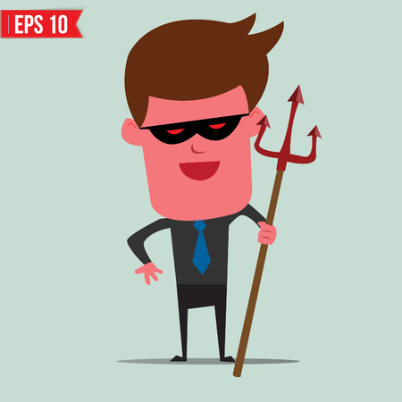 Devil Business man  - Vector illustration Stock Vector - 24130726