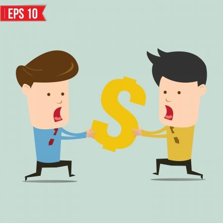 snatch: Business man snatching money - Vector illustration  Illustration