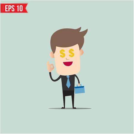salary man: Business man and money