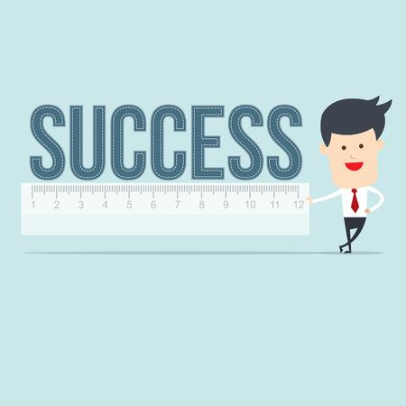 accomplishes: Business man user ruler measure