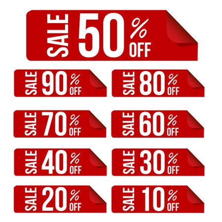 sticker design: Sale percent sticker price tag flat design  Illustration
