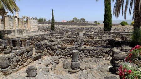 Ruins of ancient city Capernaum in Israel Banque d'images