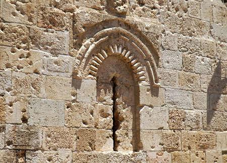 Blocked window in Jerusalem Banque d'images
